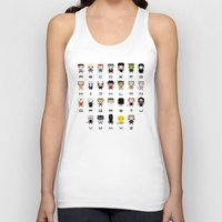 movies Tank Tops featuring Horror Movies Alphabet by PixelPower