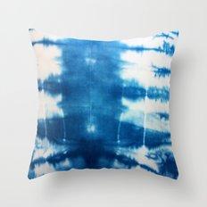 Horizontal Indigo Stripes Throw Pillow