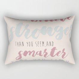You are Braver #typography #inspirational Rectangular Pillow