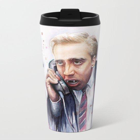 Nicolas Cage Vampire Meme Metal Travel Mug