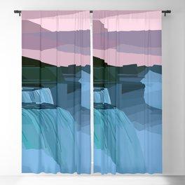 Geometric Niagara Falls, Canada USA Blackout Curtain