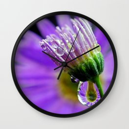 purple dew Wall Clock