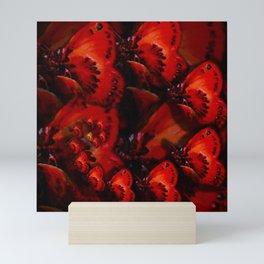 Inner Glow 4 Spiral Red Mini Art Print