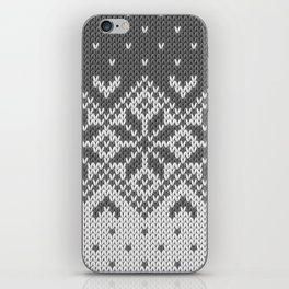 Winter knitted pattern 8 iPhone Skin