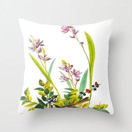 Field sparrow Bird Throw Pillow