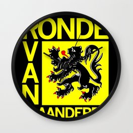 Ronde Van Vlaanderen Tourof Flanders Bicycle Racing Advertising Print Wall Clock