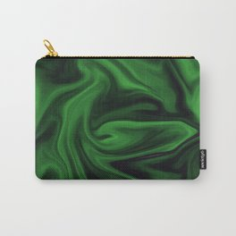 Black and green marble pattern Carry-All Pouch