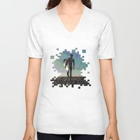 surfer V-neck T-shirts featuring Surfer by NeleVdM