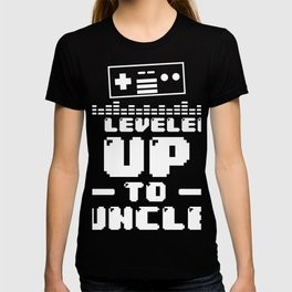 Leveled Up To Uncle print, Gamer product, Uncle Tee T-shirt