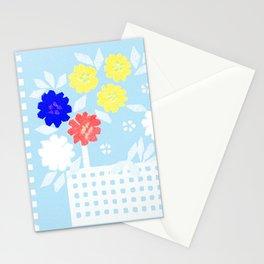 Spring flower basket 3 Stationery Cards