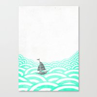 boat Canvas Prints featuring boat by lazy albino