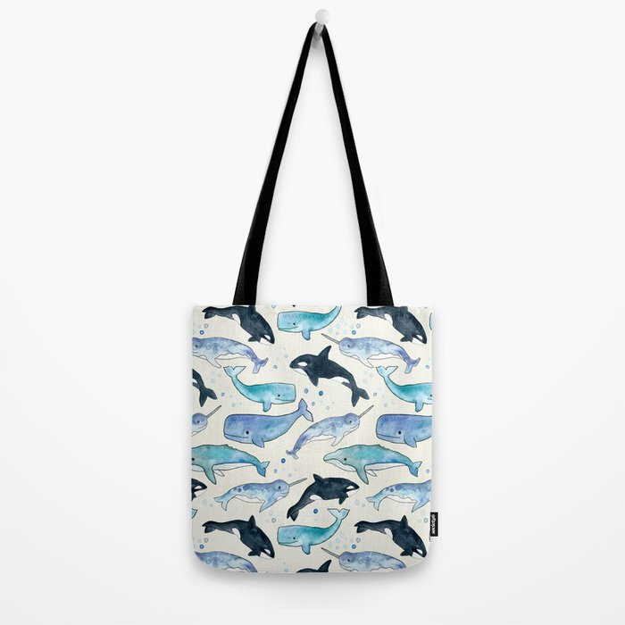 Whales, Orcas & Narwhals Tote Bag