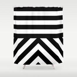 Black Stripes Shower Curtain