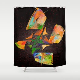 Flutter - squared Shower Curtain