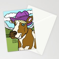 Cowgirl with Hat and Bangs Stationery Cards