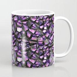 Lilac black crystal gem wall Coffee Mug