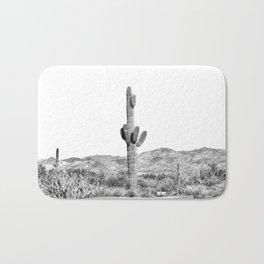 Cactus photography, balck and white Bath Mat