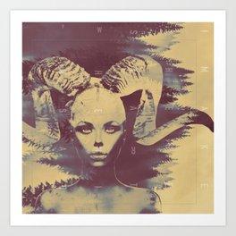 Goat Woman of the Woods Art Print