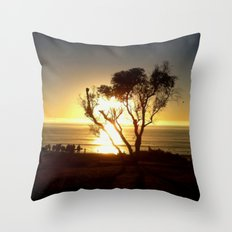 Fire and Water - a California sunset Throw Pillow