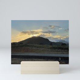 morro sunset Mini Art Print