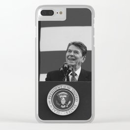 President Reagan Clear iPhone Case