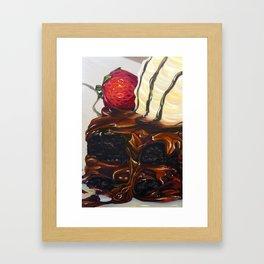 hot fudge brownie Framed Art Print