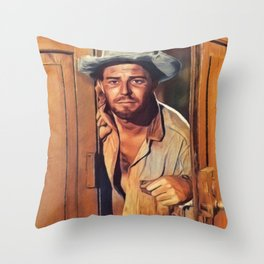 Gerard Philipe, Vintage Actor Throw Pillow