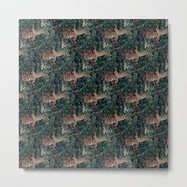 Bunny medieval tapestry Metal Print