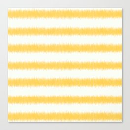 Ikat Stripe Yellow Canvas Print