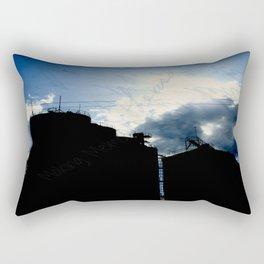 Small town living Rectangular Pillow