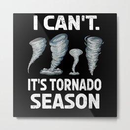 Storm Chaser Hurricane Storm Lover Tornado Chasing Metal Print