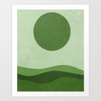 Green Sea Art Print