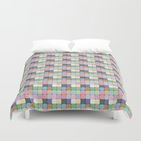 stained glass Duvet Covers featuring Stained Glass by Ana Guillén Fernández