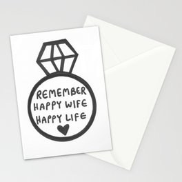 Happy Wife, Happy Life Stationery Cards