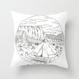 Yurt Dreams Throw Pillow