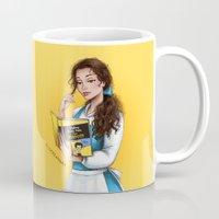 belle Mugs featuring Belle by C. Cassandra