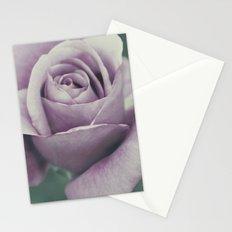 Rose in violet Stationery Cards