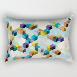 Abstract Geometric 3D Cubes Rectangular Pillow