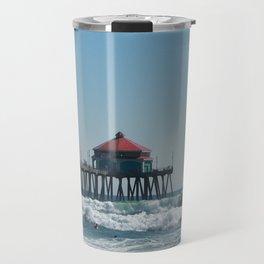 Huntington Beach Life Travel Mug