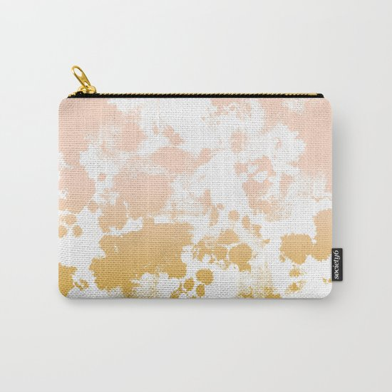 Minimal modern ombre gold to pastel pink abstract art pattern gender neutral Carry-All Pouch