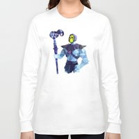 skeletor Long Sleeve T-shirts featuring Polygon Heroes - Skeletor by PolygonHeroes