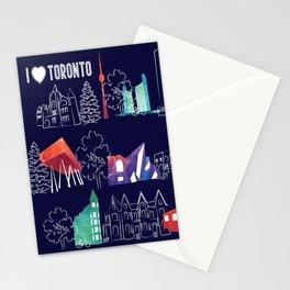 I heart Toronto (navy) Stationery Cards