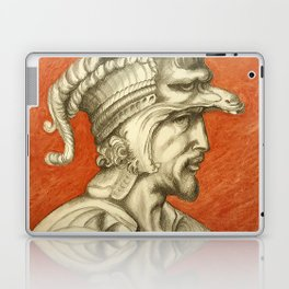 Young nobleman with helmet and dog. Michelangelo Buonarroti Laptop & iPad Skin