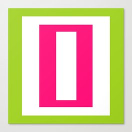 pink and green mod rectangles Canvas Print