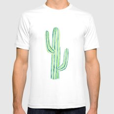 saguaro cactus White MEDIUM Mens Fitted Tee