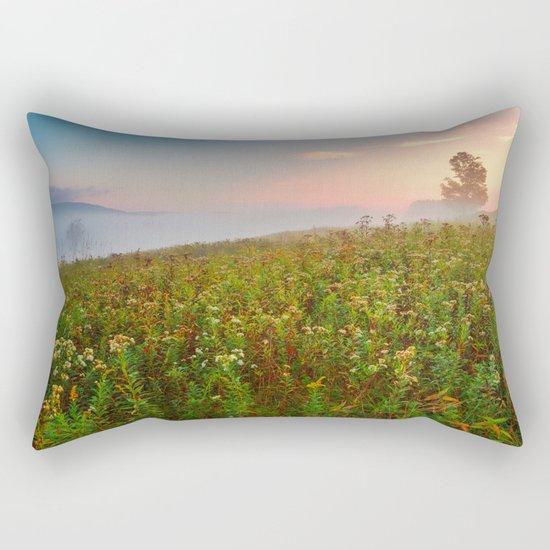 Misty Canaan Valley Sunrise Rectangular Pillow