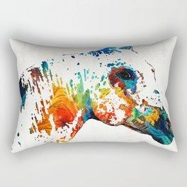 Colorful Horse Art - Wild Paint - By Sharon Cummings Rectangular Pillow