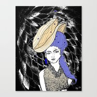hats Canvas Prints featuring Hats by Madame Mim