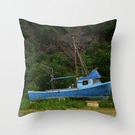 Stranded in Seldovia Throw Pillow