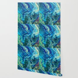 Fluid Nature - Marine Odyssey - Abstract Acrylic Art Wallpaper